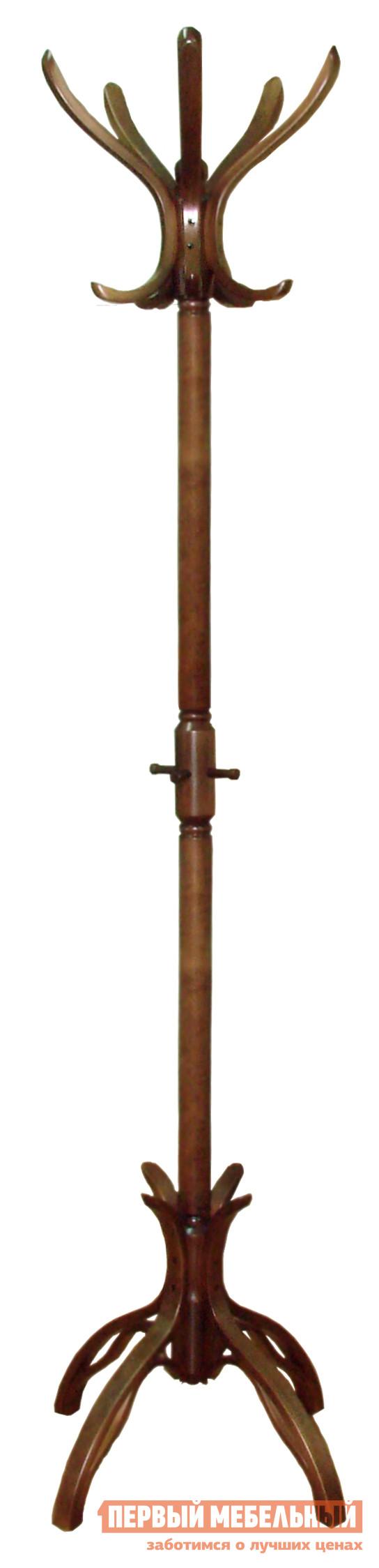 Напольная вешалка Мебелик В 12Н Средне-коричневый