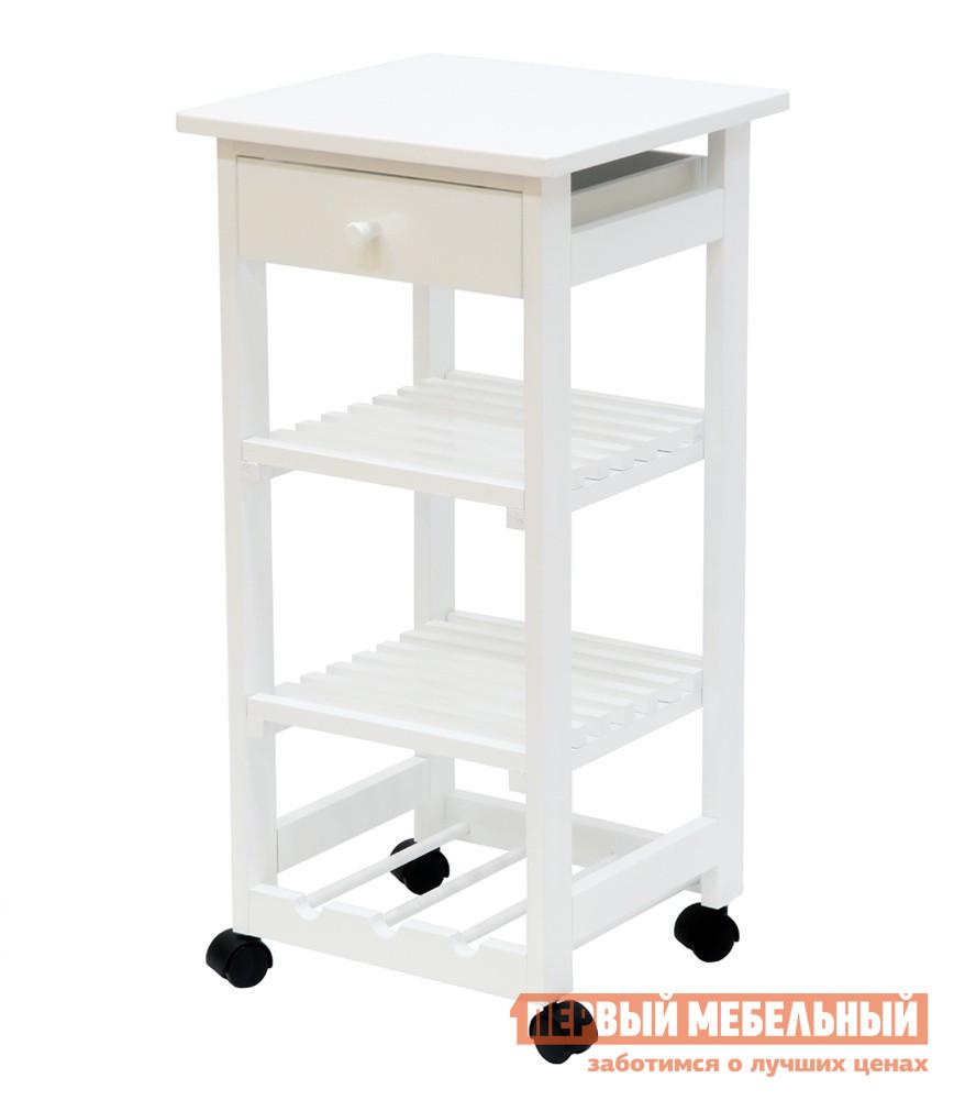 Сервировочный столик Мебелик В 42Н Белая эмаль