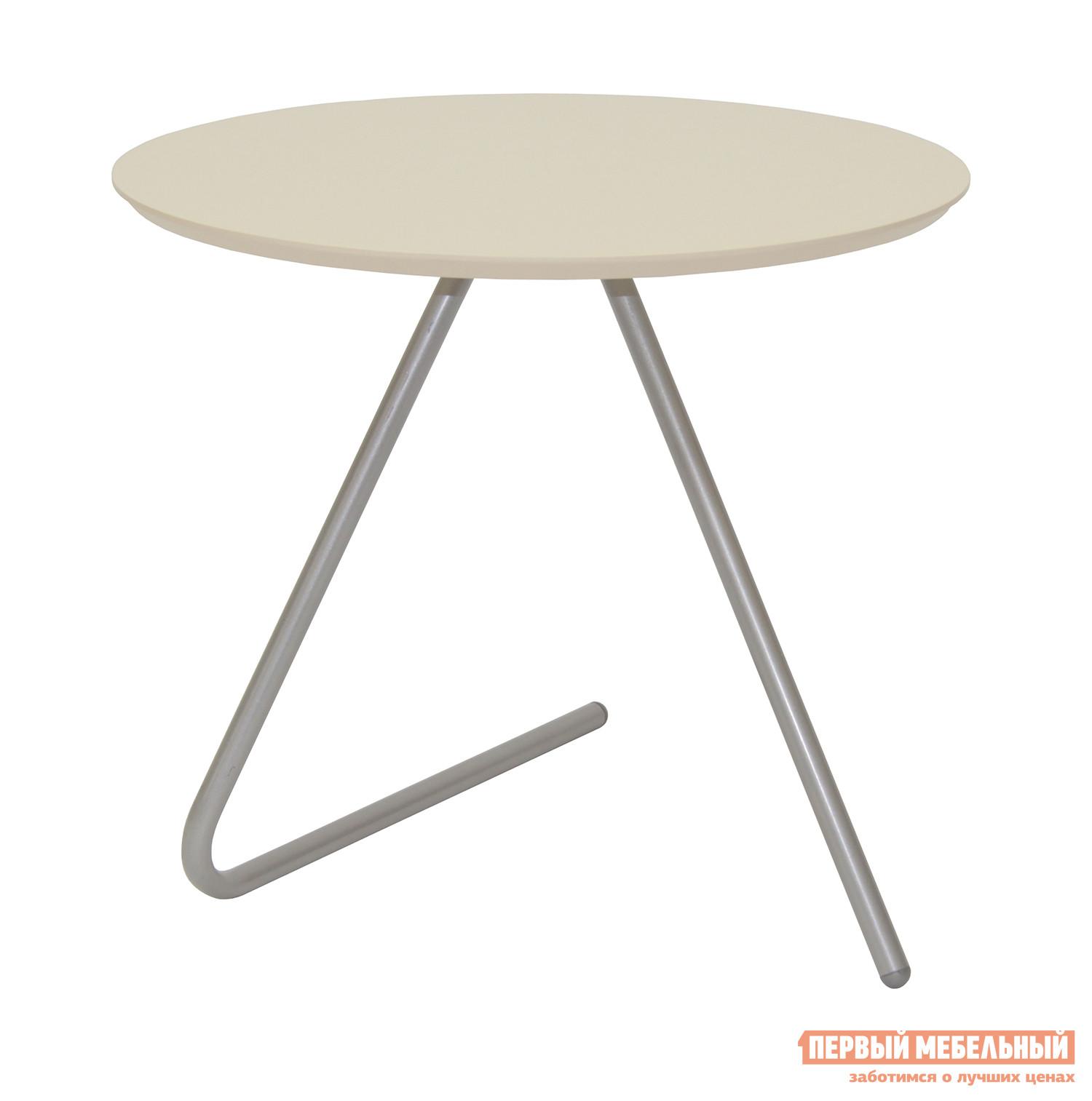 Журнальный столик Мебелик Стол журнальный Дуэт 7 Металлик / Бежевый