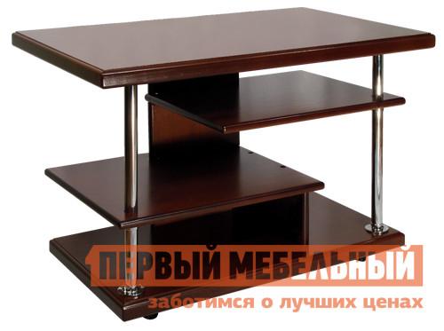 Журнальный столик Мебелик Комфорт-3 МахагонЖурнальные столики<br>Габаритные размеры ВхШхГ 540x800x500 мм. Стильный и вместительный журнальный столик станет незаменимым элементом Вашего интерьера.  Столешница и 3 полочки сделаны из МДФ и шпона ценных пород дерева.  Хромированные опоры, на которых располагаются полочки, отлично сочетаются с оттенками натурального дерева.  Столик оборудован колесными опорами для удобства при перемещении изделия.<br><br>Цвет: Махагон<br>Цвет: Красное дерево<br>Высота мм: 540<br>Ширина мм: 800<br>Глубина мм: 500<br>Кол-во упаковок: 1<br>Форма поставки: В разобранном виде<br>Срок гарантии: 24 месяца<br>Тип: Для офиса<br>Назначение: Для офиса, Для гостиной<br>Материал: из МДФ, из массива дерева<br>Форма: Прямоугольные<br>Размер: Маленькие<br>Высота: Высокие<br>Особенности: С полкой, На колесиках<br>Стиль: Модерн