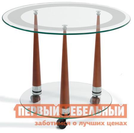 Журнальный столик Мебелик Квартет-13 Средне-коричневый / Прозрачное стекло