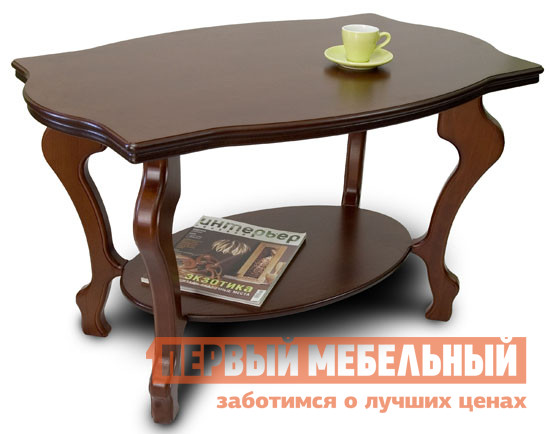 Журнальный столик Мебелик Берже-1 Темно-коричневыйЖурнальные столики<br>Габаритные размеры ВхШхГ 560x940x600 мм. Журнальный столик выполнен из МДФ и шпона ценных пород дерева, имеет опоры из натурального дерева.  Качественный и надежный стол представлен в нескольких благородных оттенках натурального дерева.  Внизу располагается полка размером 64х40 см толщиной 17 мм.  Толщина столешницы 33 мм. Ножки стола выполнены из массива бука, столешница покрыта шпоном дуба.<br><br>Цвет: Темно-коричневый<br>Цвет: Коричневое дерево<br>Высота мм: 560<br>Ширина мм: 940<br>Глубина мм: 600<br>Кол-во упаковок: 1<br>Форма поставки: В разобранном виде<br>Срок гарантии: 24 месяца<br>Тип: Чайные<br>Назначение: Для гостиной<br>Материал: из МДФ, из шпона, из массива дерева<br>Порода дерева: из бука, из дуба<br>Форма: Овальные<br>Размер: Маленькие<br>Высота: Высокие<br>Особенности: С полкой<br>Стиль: Классический