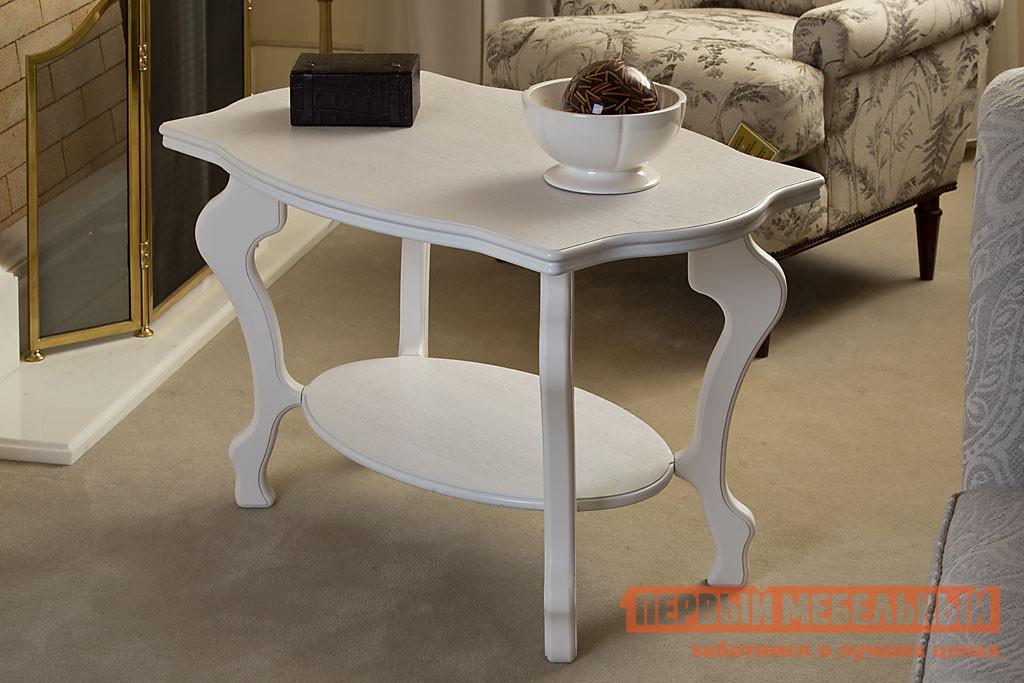 Журнальный столик Мебелик Берже-1 Белый ясень от Купистол
