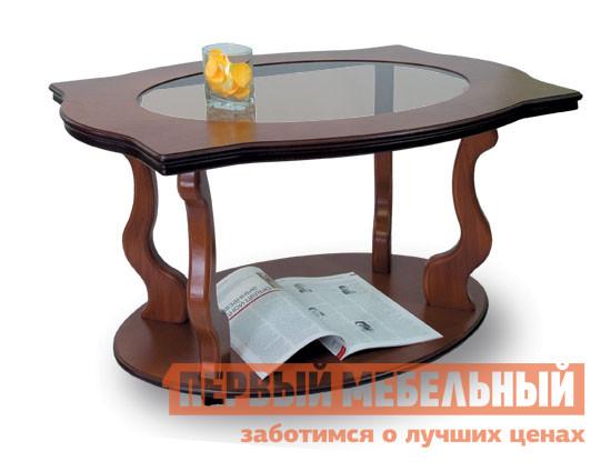 Журнальный столик Мебелик Берже-3С Средне-коричневый Мебелик Габаритные размеры ВхШхГ 550x940x600 мм. Журнальный столик имеет столешницу, изготовленную из МДФ и шпона ценных пород дерева, опоры выполнены из натурального дерева.   В центре столешницы имеется вставка из стекла, что придает изделию элегантность и внешнюю легкость.  Стол представлен в нескольких благородных оттенках натурального дерева. <br>Ножки стола выполнены из массива бука, столешница покрыта шпоном дуба. <br>