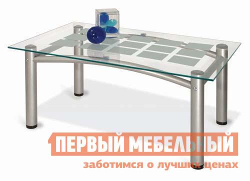 Журнальный стол со стеклянной столешницей Мебелик Робер-3М