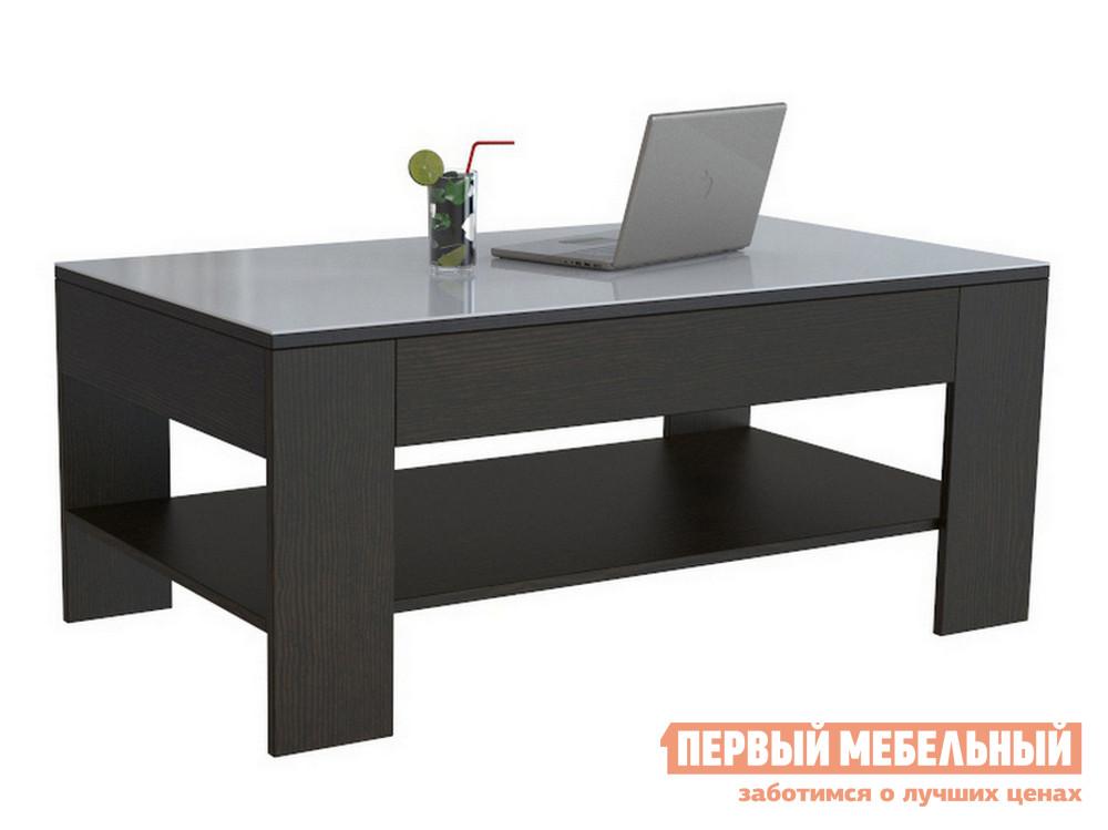 Журнальный столик  BeautyStyle 26 Венге / Стекло белое