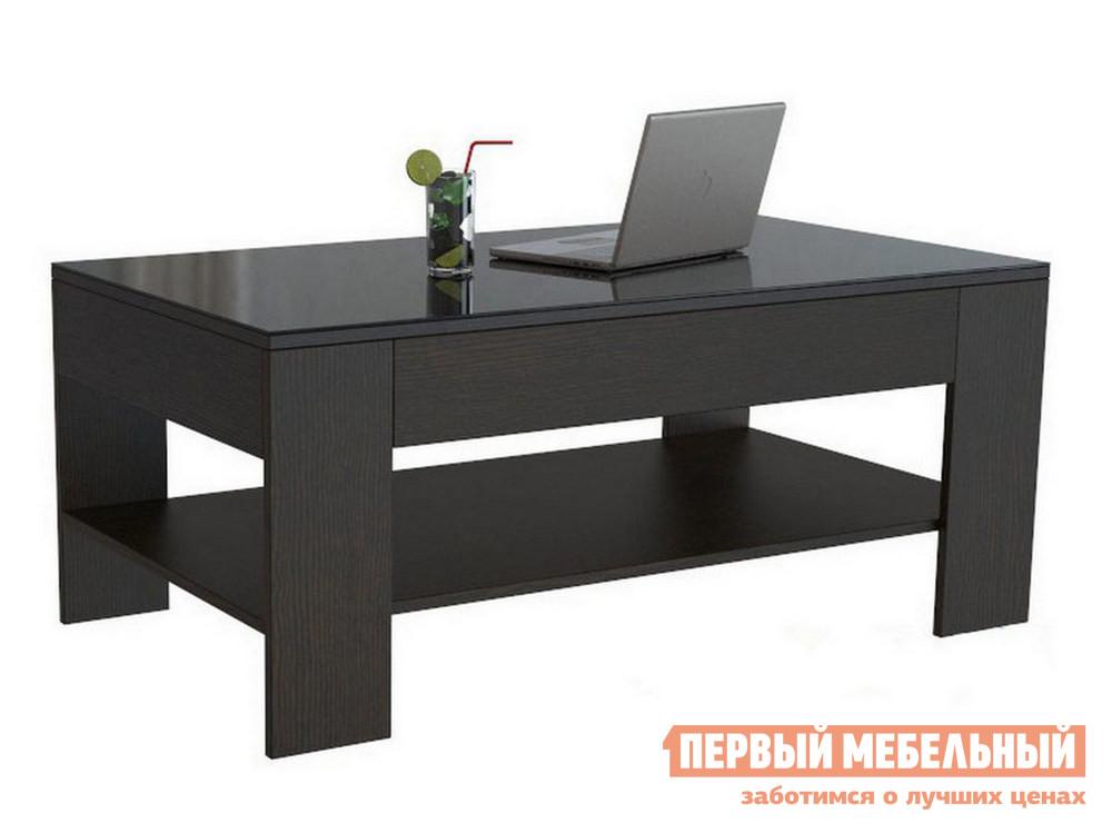 Журнальный столик  BeautyStyle 26 Венге / Стекло черное