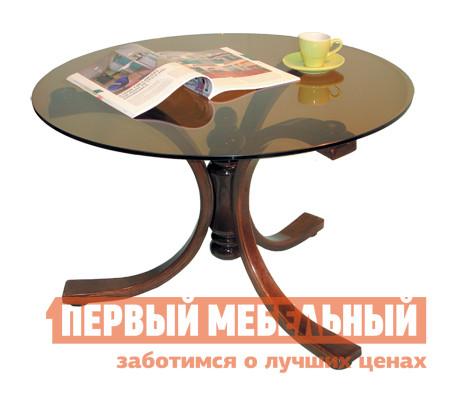 Круглый журнальный столик стеклянный Мебелик Лорд