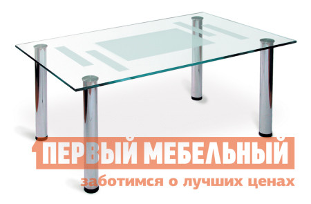 Стол журнальный со стеклом Мебелик Робер-10М