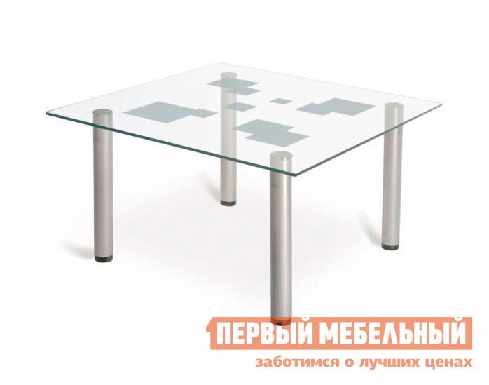 Стол журнальный со стеклом Мебелик Робер-9М