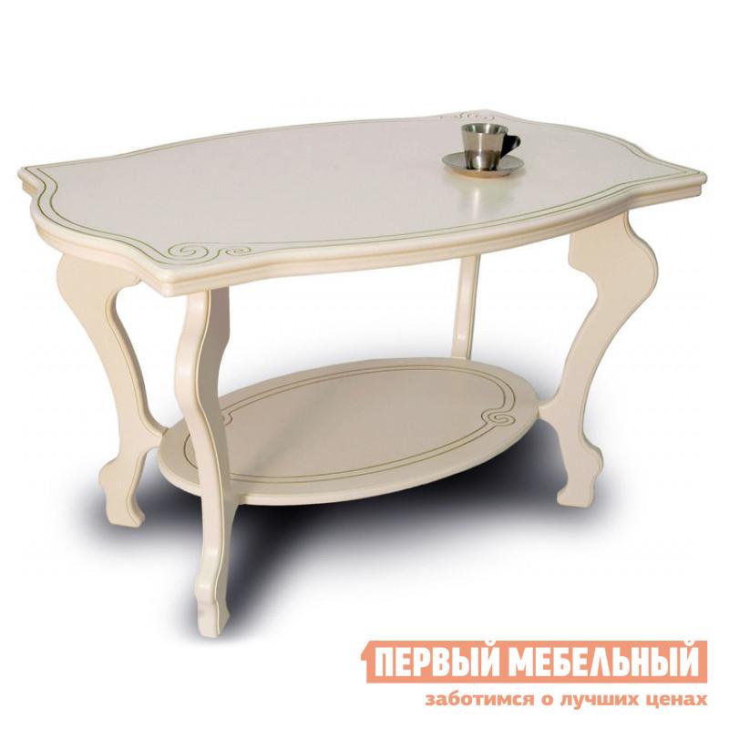 Чайный стол Мебелик Берже-1 слоновая кость