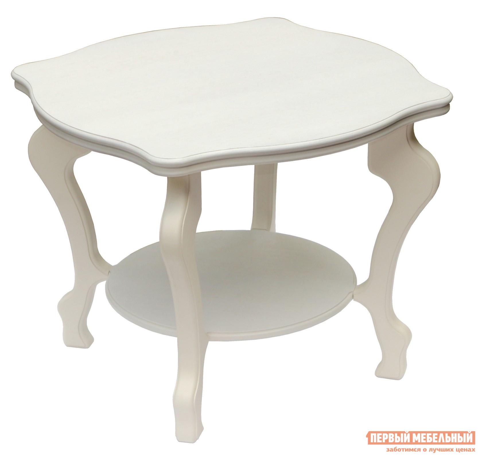 Журнальный столик Мебелик Берже-2 Белый ясень