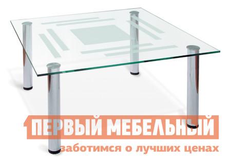 Стол журнальный со стеклом Мебелик Робер-8М