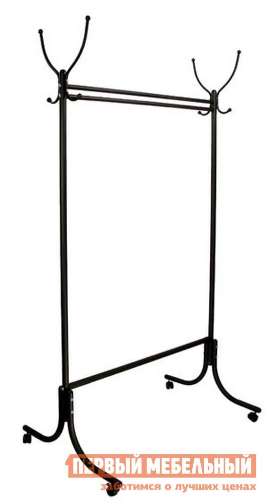 Гардеробная вешалка Мебелик М-13 на колесах вешалка напольная мебелик вешалка гардеробная м 13 алюминий с колесиками