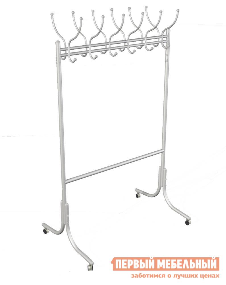 купить Гардеробная вешалка Мебелик М-11 на колесах по цене 6340 рублей