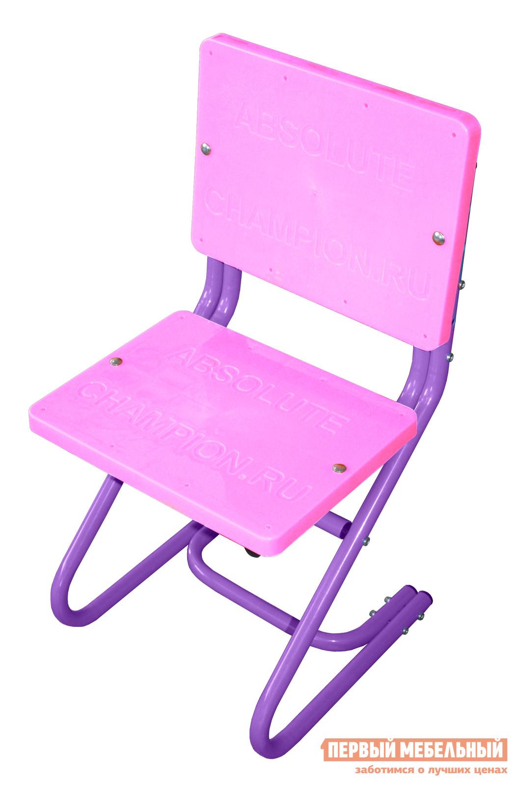 Стул AbsoluteChampion Стул ученический (Розово-фиолетовый) Розово-фиолетовыйДетские стулья<br>Габаритные размеры ВхШхГ 850x295x395 мм. Удобный и практичный стул, который отлично подойдет для оформления рабочего уголка в детской комнате.  Его конструкция проста и очень надежна, он прослужит вам не один учебный год. Высота сиденья регулируется по мере роста ребенка и имеет три уровня: 380, 420 и 460 мм. Спинка и сиденье выполнены из неприхотливого в уходе и износостойкого пластика ПВХ.  Каркас выполнен из прочной стальной трубы.<br><br>Цвет: Розово-фиолетовый<br>Цвет: Фиолетовый<br>Цвет: Розовый<br>Высота мм: 850<br>Ширина мм: 295<br>Глубина мм: 395<br>Кол-во упаковок: 1<br>Форма поставки: В разобранном виде<br>Срок гарантии: 1 год<br>Особенности: Без подлокотников