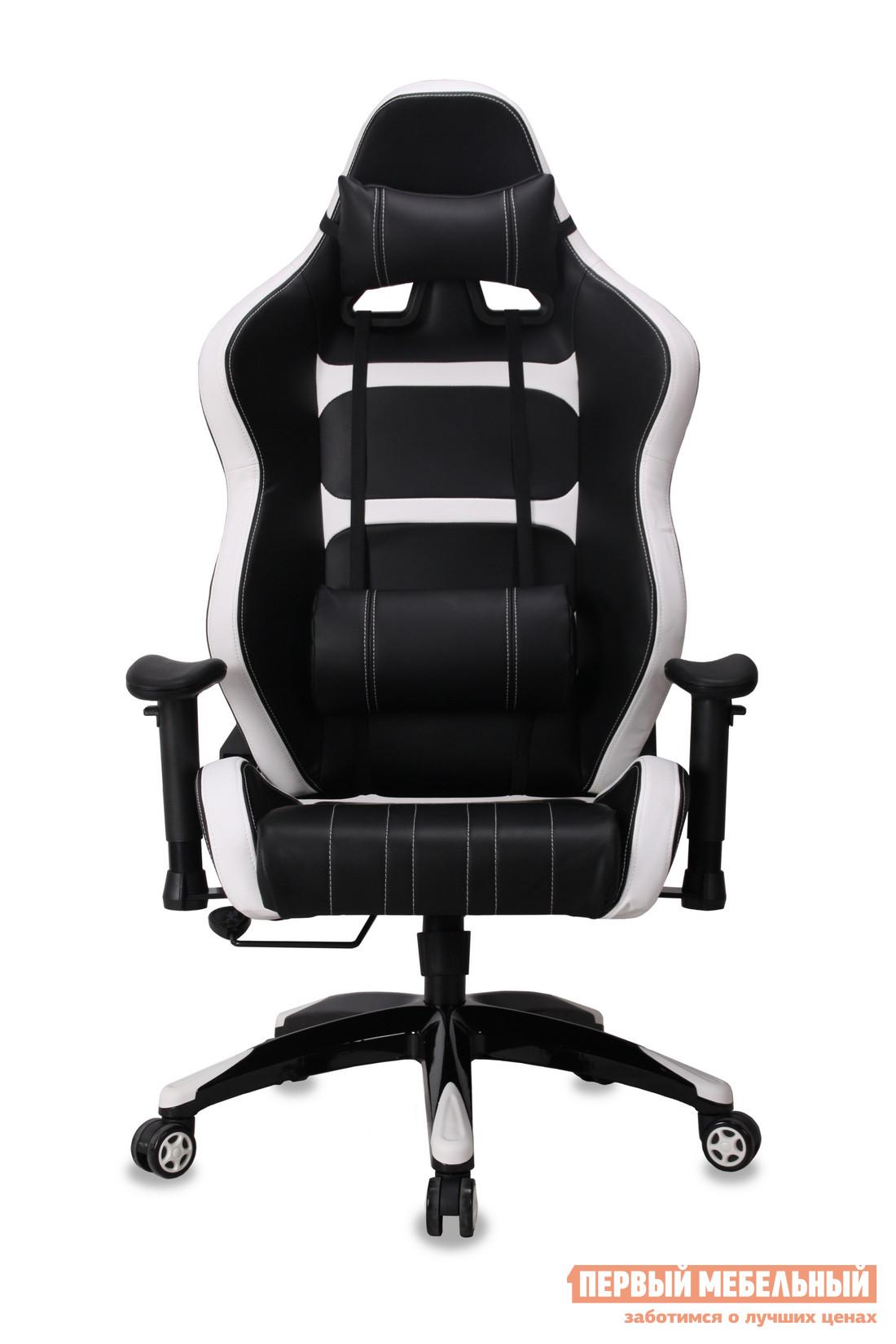 Компьютерное кресло Бюрократ CH-772 Иск. кожа черная / Вставки белый