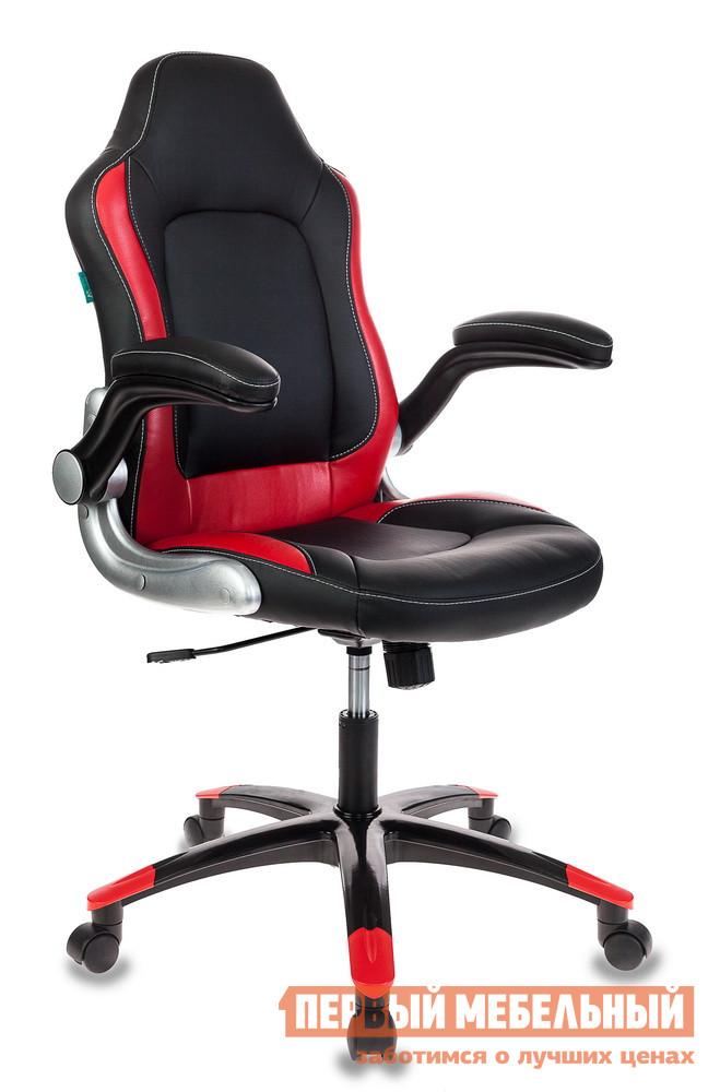Игровое кресло  BG Viking-1 Иск. кожа черная / Вставки красный