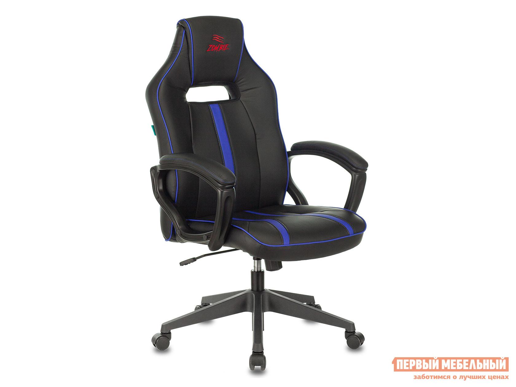 Игровое кресло  Кресло игровое Бюрократ VIKING ZOMBIE A3 Черный / Синий экокожа.