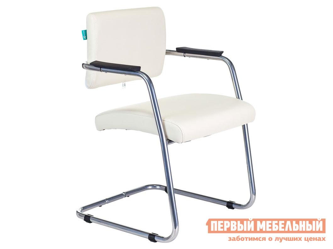 Офисный стул Кресло CH-271N Or-10 Иск. кожа молочная / Зеркальный хром фото