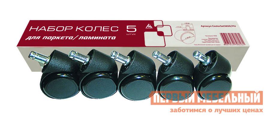 Фото Набор колес Бюрократ CastorSet3850/PU Черный. Купить с доставкой