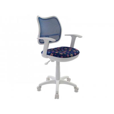 Детское компьютерное кресло Бюрократ CH-W797 STAR-BL синий/звезды