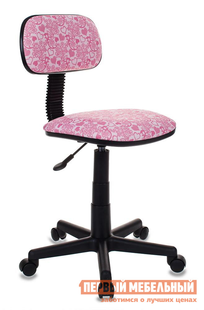 Детское компьютерное кресло Бюрократ CH-201NX HEARTS-PK розовый сердца