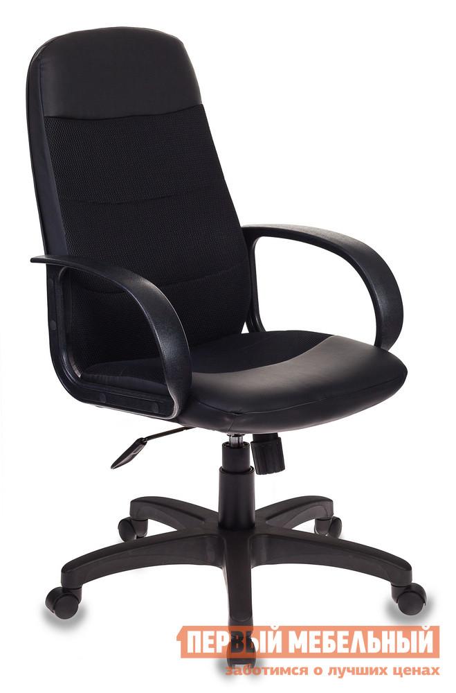 Офисное кресло  CH-808AXSN Сетка черная / Искусственная кожа черная
