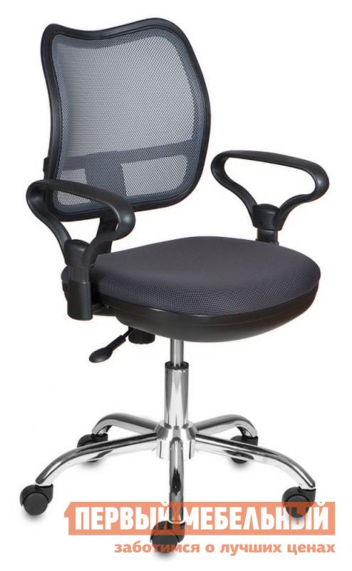 Офисное кресло Бюрократ CH-799SL TW-12 СерыйОфисные кресла<br>Габаритные размеры ВхШхГ 990x610x400 мм. Офисное кресло наполнит будни в офисе комфортом и стилем.  Тканевое исполнение дополнено сияющим блеском хромированной крестовины.  Такое решение выделяет кресло из рядов офисной мебели, но не переносит в плоскость недосягаемого великолепия.  Сидеть в кресле приятно и комфортно благодаря широким подлокотникам и эргономичной сетчатой спинке.  Регулировка высоты кресла осуществляется с помощью газлифта.  Дополнительно кресло оборудовано механизмом качания, который адаптируется под вес сидящего.  При желании спинку можно зафиксировать в вертикальном положении.  Маневренные колесики обеспечат легкое перемещение пустого кресла, или мобильность во время работы. Максимальная допустимая нагрузка – 120 кг.  Цветовое разнообразие поможет привнести индивидуальность в интерьер и расширит возможные варианты оформления кабинета.<br><br>Цвет: TW-12 Серый<br>Цвет: Серый<br>Высота мм: 990<br>Ширина мм: 610<br>Глубина мм: 400<br>Кол-во упаковок: 1<br>Форма поставки: В разобранном виде<br>Срок гарантии: 18 месяцев<br>Тип: До 80 кг, До 100 кг, До 120 кг<br>Материал: из ткани, С сетчатой спинкой<br>Особенности: Эргономичные, С подлокотниками, На колесиках, С хромированной крестовиной