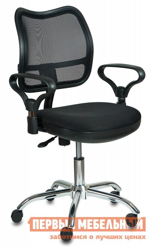 Офисное кресло Бюрократ CH-799SL TW-11 ЧерныйОфисные кресла<br>Габаритные размеры ВхШхГ 990x610x400 мм. Офисное кресло наполнит будни в офисе комфортом и стилем.  Тканевое исполнение дополнено сияющим блеском хромированной крестовины.  Такое решение выделяет кресло из рядов офисной мебели, но не переносит в плоскость недосягаемого великолепия.  Сидеть в кресле приятно и комфортно благодаря широким подлокотникам и эргономичной сетчатой спинке.  Регулировка высоты кресла осуществляется с помощью газлифта.  Дополнительно кресло оборудовано механизмом качания, который адаптируется под вес сидящего.  При желании спинку можно зафиксировать в вертикальном положении.  Маневренные колесики обеспечат легкое перемещение пустого кресла, или мобильность во время работы. Максимальная допустимая нагрузка – 120 кг.  Цветовое разнообразие поможет привнести индивидуальность в интерьер и расширит возможные варианты оформления кабинета.<br><br>Цвет: TW-11 Черный<br>Цвет: Черный<br>Высота мм: 990<br>Ширина мм: 610<br>Глубина мм: 400<br>Кол-во упаковок: 1<br>Форма поставки: В разобранном виде<br>Срок гарантии: 18 месяцев<br>Тип: До 80 кг, До 100 кг, До 120 кг<br>Материал: из ткани, С сетчатой спинкой<br>Особенности: Эргономичные, С подлокотниками, На колесиках, С хромированной крестовиной