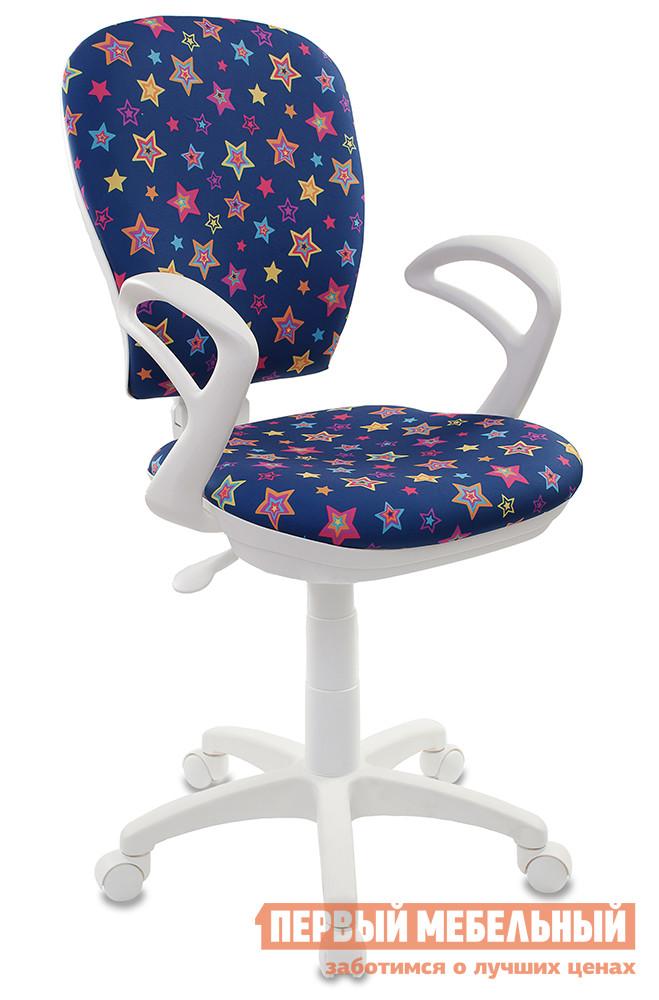 Фото Компьютерное кресло Бюрократ CH-W513 STAR-BL синий/звезды. Купить с доставкой