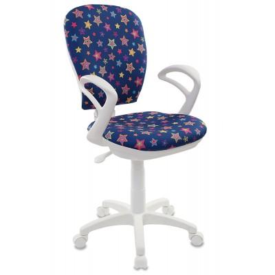 Компьютерное кресло Бюрократ CH-W513 STAR-BL синий/звезды