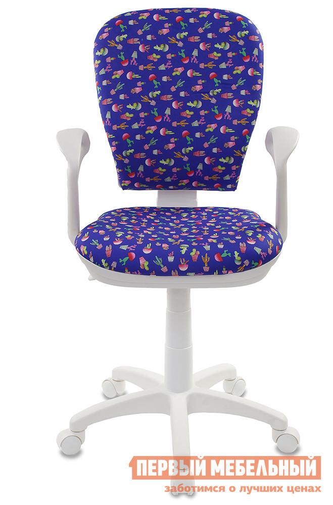 Компьютерное кресло Бюрократ CH-W513 CACTUS-BL синий/кактусы от Купистол