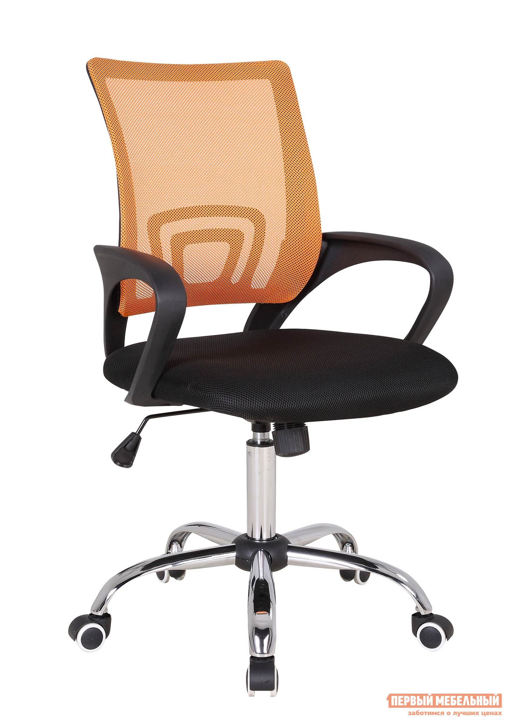Офисное кресло Бюрократ CH-695SL Сетка Оранжевый TW-38-3 / Черный TW-11