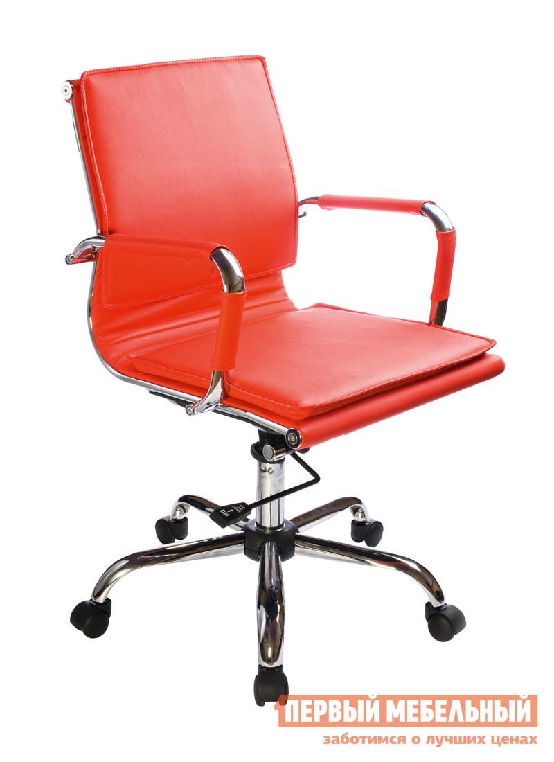 Кресло руководителя  CH-993-Low Иск. кожа красная — CH-993-Low Иск. кожа красная