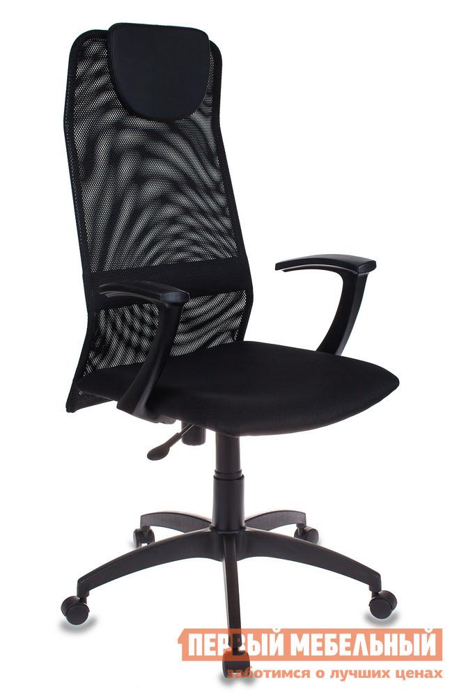 Кресло руководителя Бюрократ KB-8 сетка черный / иск. кожа черный