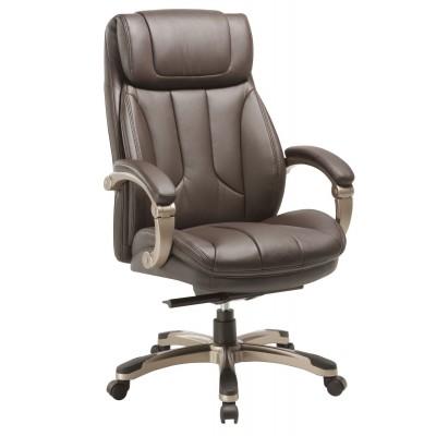 Кресло руководителя Бюрократ T-9921 Коричневая кожа
