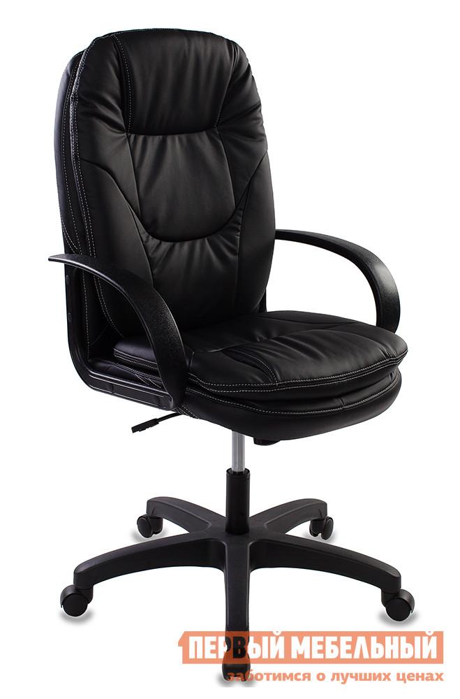 Кресло руководителя Бюрократ CH-1868 Иск. кожа черная