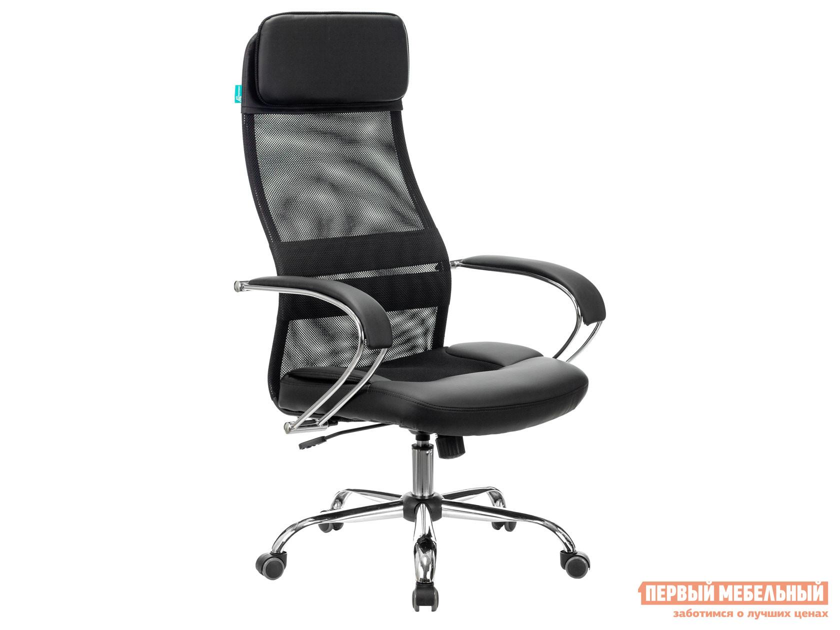 Кресло руководителя  CH-608SL/BLACK TW-11 Черный, ткань / TW-01 сетка Бюрократ 95199