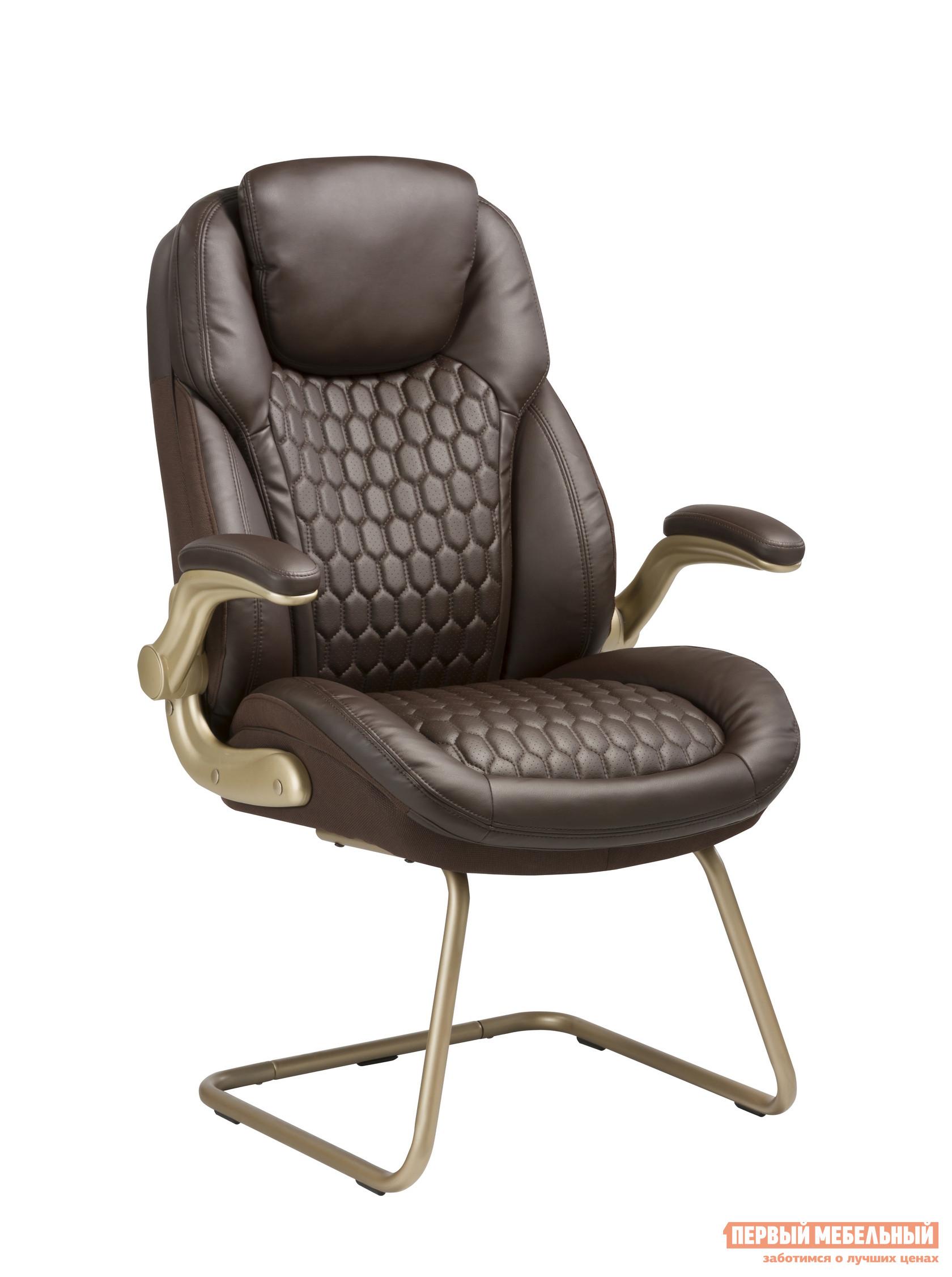 Кресло руководителя  T-9917A-LOW-V Коричневая рециклированная кожа / Кожзам