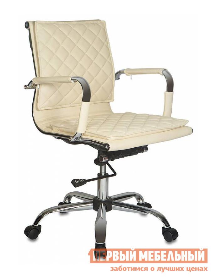 Кресло руководителя Бюрократ CH-991-LOW Иск. кожа слоновая кость
