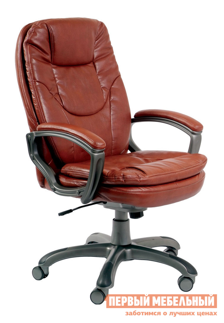 Кресло руководителя Бюрократ CH-868AXSN Иск. кожа коричневая от Купистол