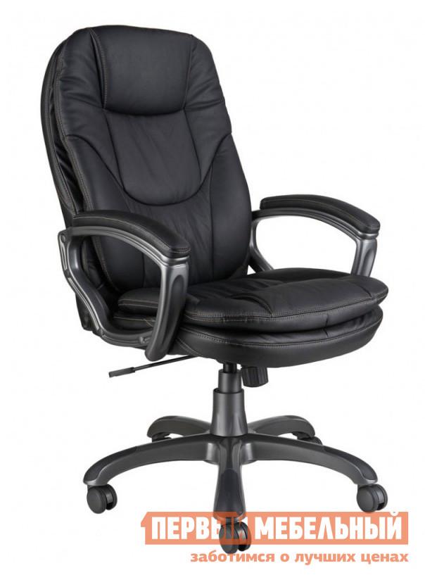 Кресло руководителя Бюрократ CH-868AXSN Иск. кожа черная Бюрократ Габаритные размеры ВхШхГ 1075 / 1155x650x460 мм. Современное кресло для руководителей, выполненное в стильном дизайне.  Модель CH-868AXSN отлично впишется в классический интерьер как офиса, так и домашнего кабинета руководителя. <br>Использование в конструкции модели двойных подушек на спинке и сидении обеспечит комфортное пребывание в кресле в течении всего дня. </br>На подлокотниках есть удобные мягкие накладки черного цвета. <br>Черное компьютерное Кресло Бюрократ CH-868AXSN оснащено механизмом качания с регулировкой под вес и фиксацией в нескольких положениях. </br>Модель настраивается по высоте, благодаря механизму газлифт. </br>Высота от пола до сидения — 500/580 мм. <br>Максимальная нагрузка на газ-лифт — 120 кг. <br>Крестовина и подлокотники кресла Бюрократ для руководителей выполняются из пластика, окрашенного в темно-серый цвет, обивка — черная искусственная кожа. <br>