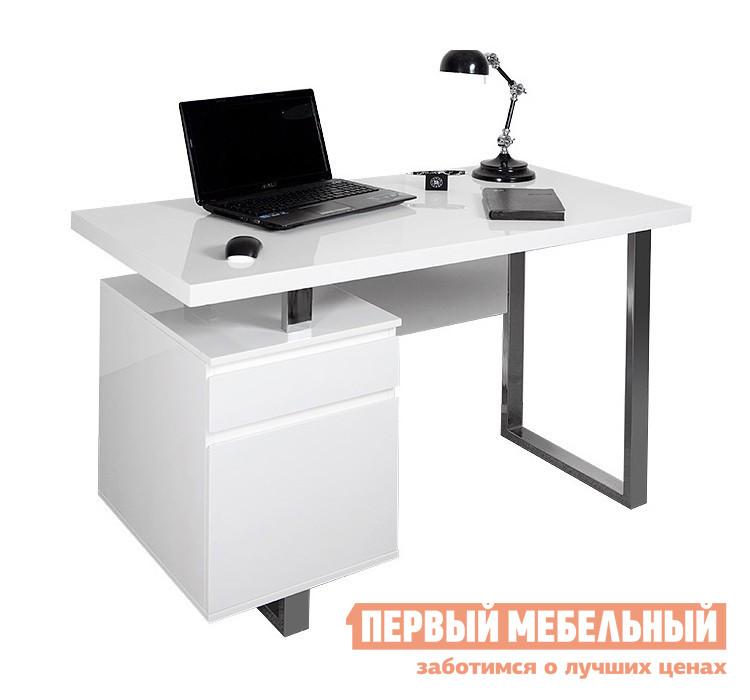 Компьютерный стол Бюрократ DL-HG003 Белый МДФ