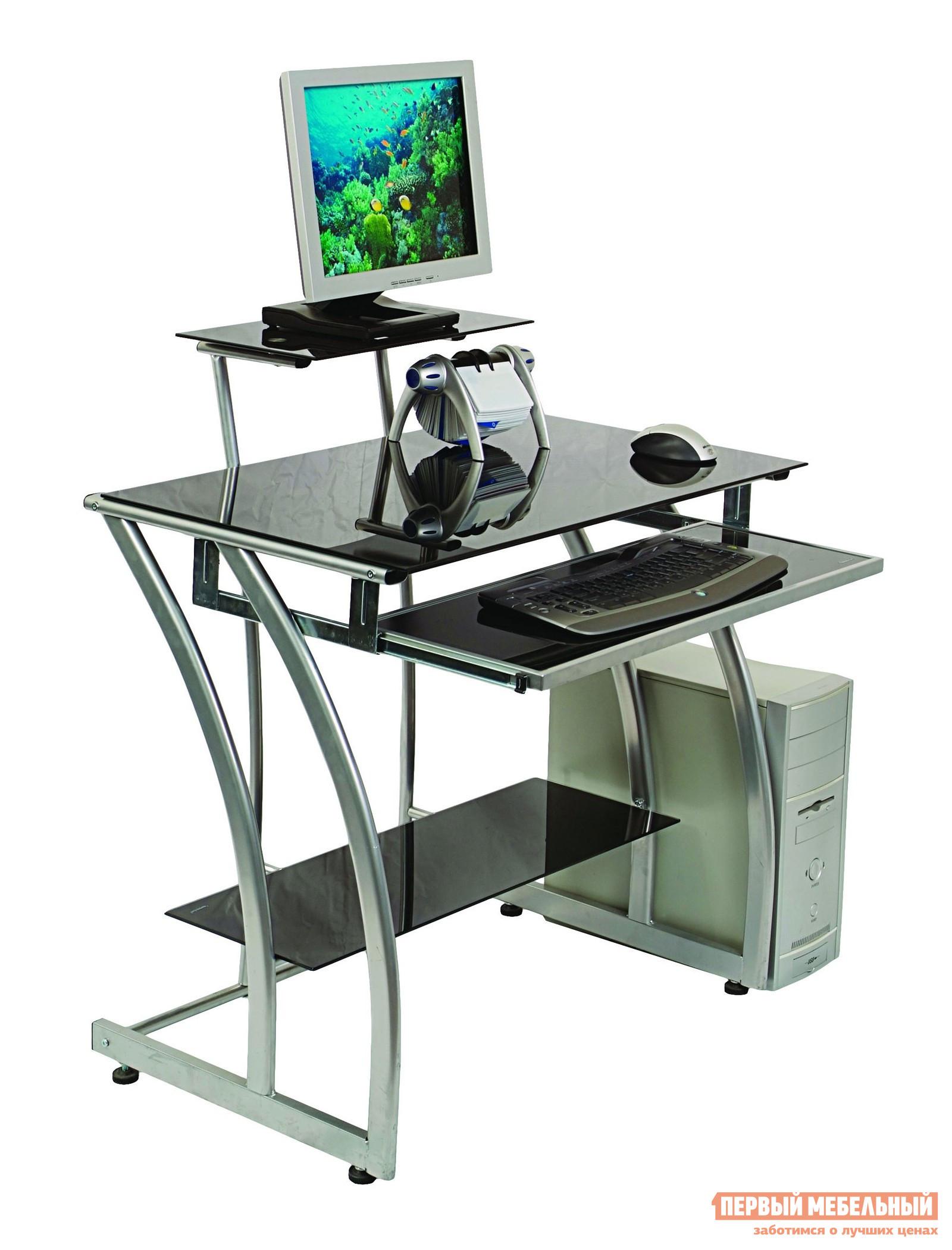 Компьютерный стол Бюрократ GD-010 Черное стекло