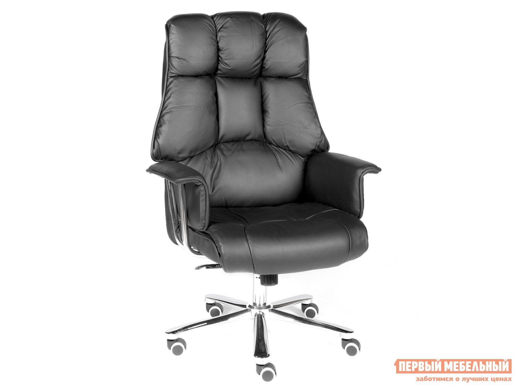 Кресло руководителя  Кресло H-1133 Черный, натуральная кожа