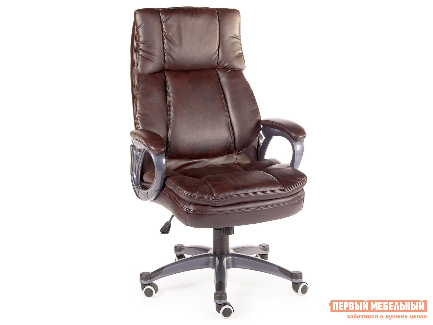 Кресло руководителя  Кресло Norden Мэдисон H-1182 Коричневый, экокожа