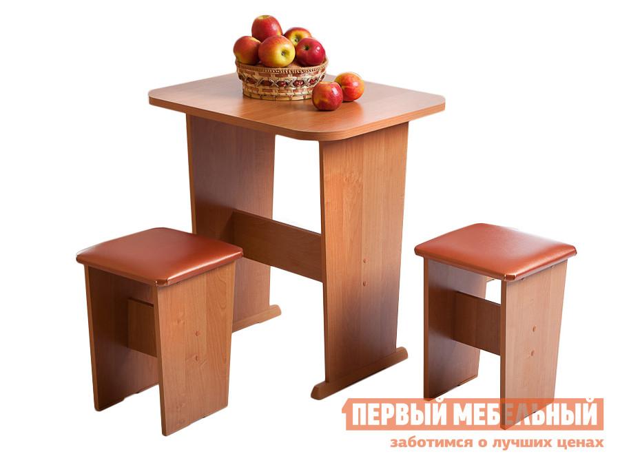 Обеденная группа для кухни Мебель Волгодонска Лидер 4 мини  Ольха, коричн. / беж.