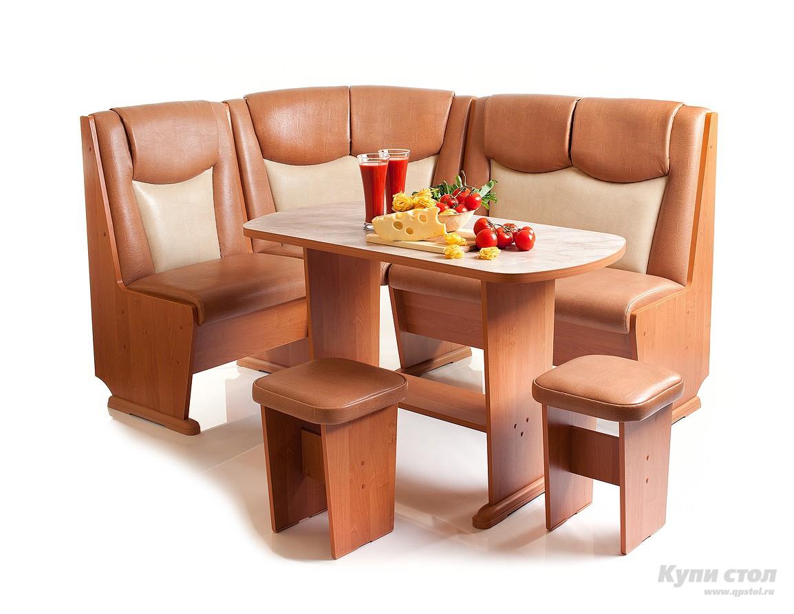 Кухонный уголок КУ Лидер 5 + Стол Лидер 5 + Табуреты Лидер 2