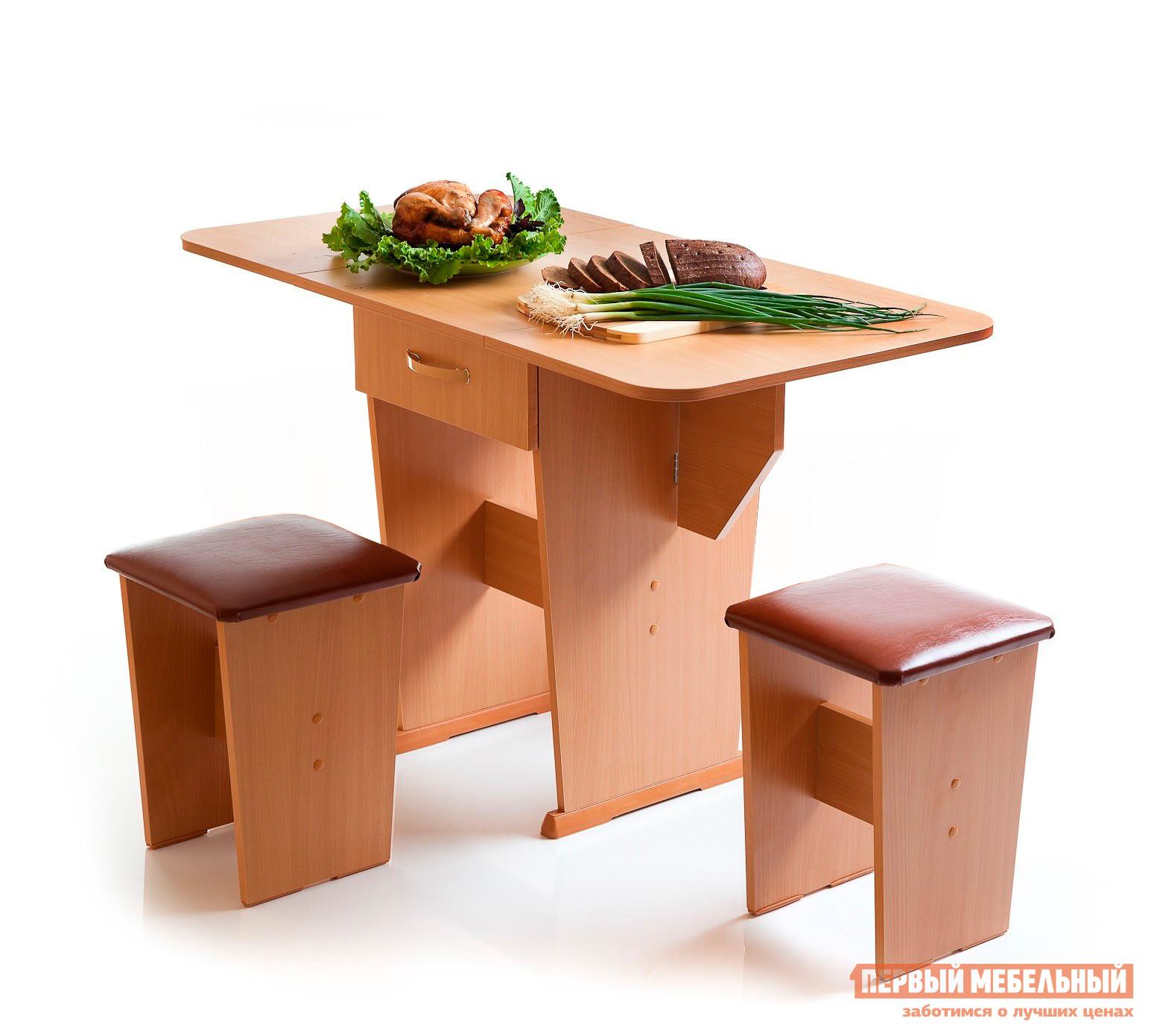 Кухонный стол Мебель Волгодонска Стол Лидер 2  Ольха
